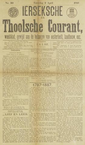 Ierseksche en Thoolsche Courant 1887-04-02