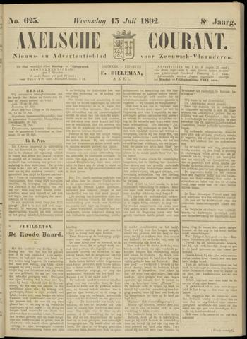 Axelsche Courant 1892-07-13