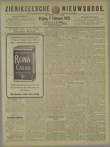 Zierikzeesche Nieuwsbode 1913-02-07