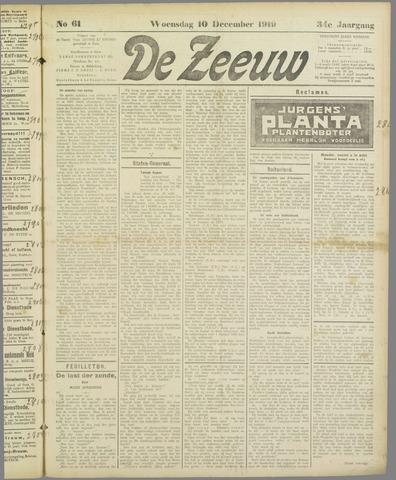 De Zeeuw. Christelijk-historisch nieuwsblad voor Zeeland 1919-12-10