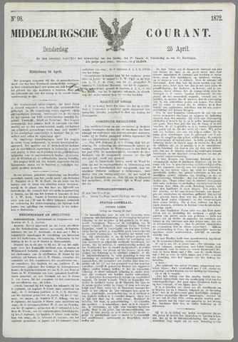 Middelburgsche Courant 1872-04-25