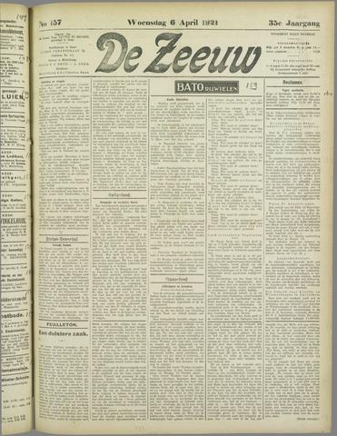 De Zeeuw. Christelijk-historisch nieuwsblad voor Zeeland 1921-04-06