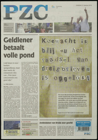 Provinciale Zeeuwse Courant 2014-10-21