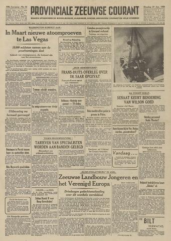 Provinciale Zeeuwse Courant 1953-01-27