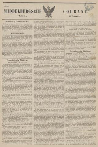 Middelburgsche Courant 1852-11-27