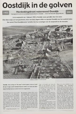 Watersnood documentatie 1953 - kranten 2003-01-01