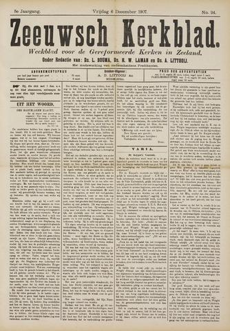 Zeeuwsche kerkbode, weekblad gewijd aan de belangen der gereformeerde kerken/ Zeeuwsch kerkblad 1907-12-06