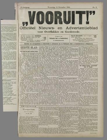 """""""Vooruit!""""Officieel Nieuws- en Advertentieblad voor Overflakkee en Goedereede 1904-12-14"""
