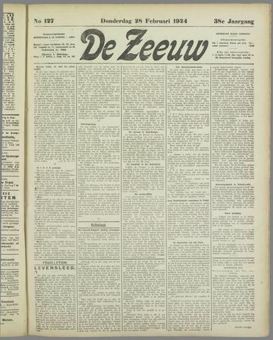 De Zeeuw. Christelijk-historisch nieuwsblad voor Zeeland 1924-02-28
