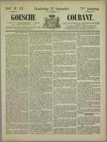 Goessche Courant 1887-09-22