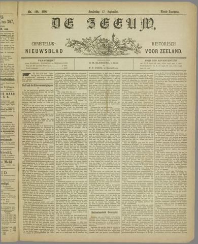 De Zeeuw. Christelijk-historisch nieuwsblad voor Zeeland 1896-09-17