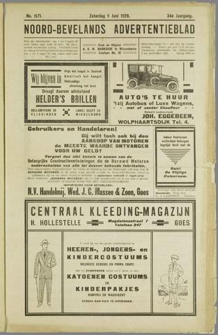 Noord-Bevelands Nieuws- en advertentieblad 1928-06-09