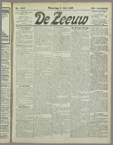 De Zeeuw. Christelijk-historisch nieuwsblad voor Zeeland 1918-07-01