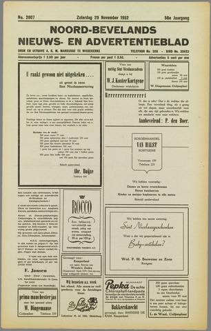 Noord-Bevelands Nieuws- en advertentieblad 1952-11-29