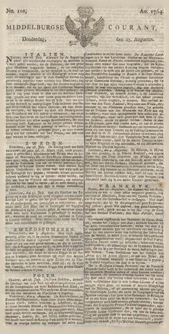 Middelburgsche Courant 1764-08-23