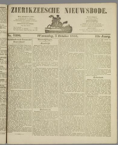 Zierikzeesche Nieuwsbode 1855-10-03