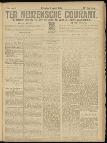 Ter Neuzensche Courant. Algemeen Nieuws- en Advertentieblad voor Zeeuwsch-Vlaanderen / Neuzensche Courant ... (idem) / (Algemeen) nieuws en advertentieblad voor Zeeuwsch-Vlaanderen 1919-04-05