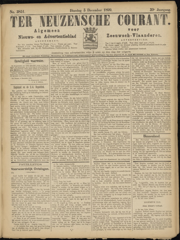 Ter Neuzensche Courant. Algemeen Nieuws- en Advertentieblad voor Zeeuwsch-Vlaanderen / Neuzensche Courant ... (idem) / (Algemeen) nieuws en advertentieblad voor Zeeuwsch-Vlaanderen 1899-12-05