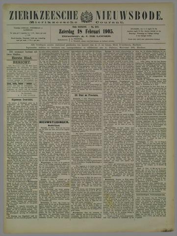 Zierikzeesche Nieuwsbode 1905-02-18