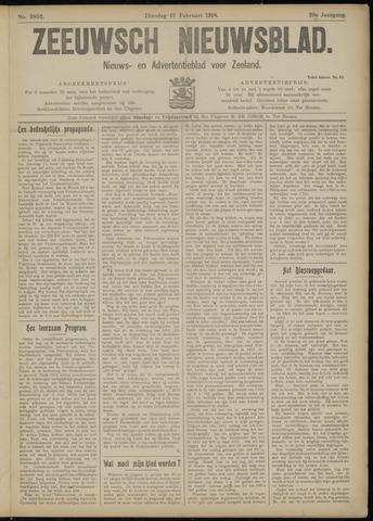 Ter Neuzensch Volksblad. Vrijzinnig nieuws- en advertentieblad voor Zeeuwsch- Vlaanderen / Zeeuwsch Nieuwsblad. Nieuws- en advertentieblad voor Zeeland 1918-02-12