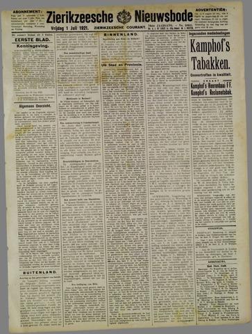 Zierikzeesche Nieuwsbode 1921-07-01