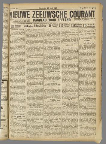 Nieuwe Zeeuwsche Courant 1923-04-26