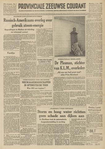 Provinciale Zeeuwse Courant 1954-01-04