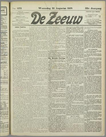 De Zeeuw. Christelijk-historisch nieuwsblad voor Zeeland 1918-08-21