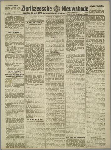 Zierikzeesche Nieuwsbode 1922-05-15