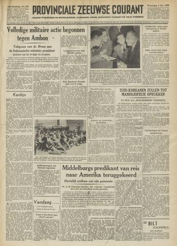 Provinciale Zeeuwse Courant 1950-10-04
