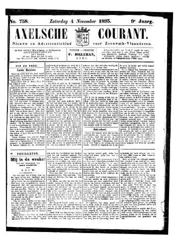 Axelsche Courant 1893-11-04