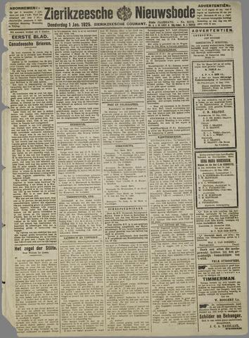Zierikzeesche Nieuwsbode 1925