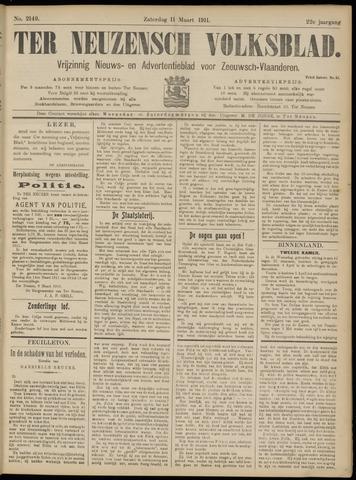 Ter Neuzensch Volksblad. Vrijzinnig nieuws- en advertentieblad voor Zeeuwsch- Vlaanderen / Zeeuwsch Nieuwsblad. Nieuws- en advertentieblad voor Zeeland 1911-03-11