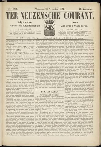 Ter Neuzensche Courant. Algemeen Nieuws- en Advertentieblad voor Zeeuwsch-Vlaanderen / Neuzensche Courant ... (idem) / (Algemeen) nieuws en advertentieblad voor Zeeuwsch-Vlaanderen 1877-11-28