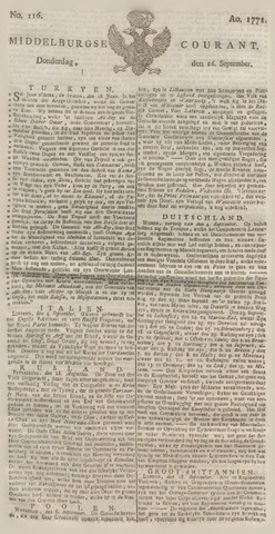 Middelburgsche Courant 1771-09-26