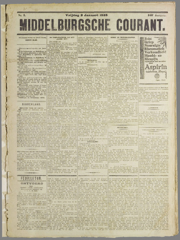 Middelburgsche Courant 1925
