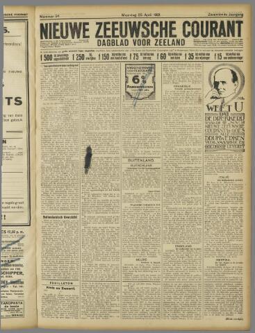 Nieuwe Zeeuwsche Courant 1921-04-25