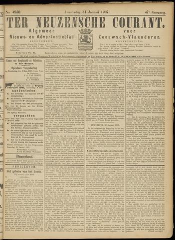 Ter Neuzensche Courant. Algemeen Nieuws- en Advertentieblad voor Zeeuwsch-Vlaanderen / Neuzensche Courant ... (idem) / (Algemeen) nieuws en advertentieblad voor Zeeuwsch-Vlaanderen 1907-01-31
