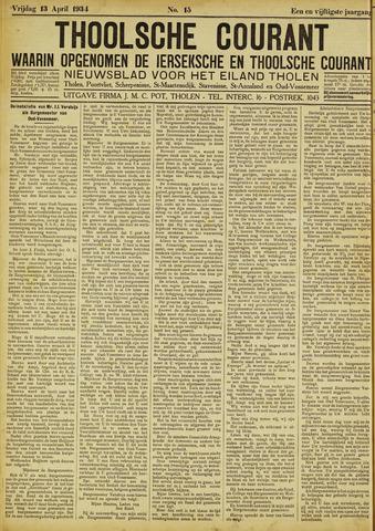 Ierseksche en Thoolsche Courant 1934-04-13