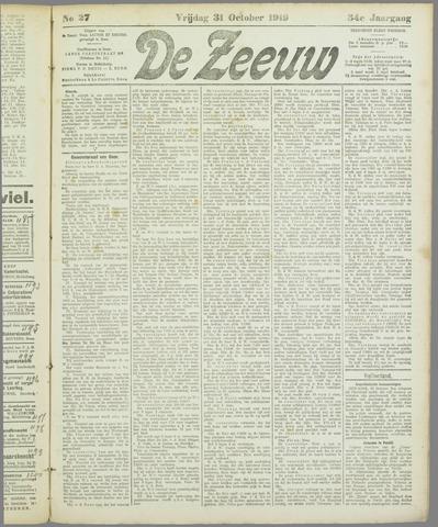 De Zeeuw. Christelijk-historisch nieuwsblad voor Zeeland 1919-10-31