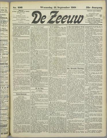 De Zeeuw. Christelijk-historisch nieuwsblad voor Zeeland 1918-09-18
