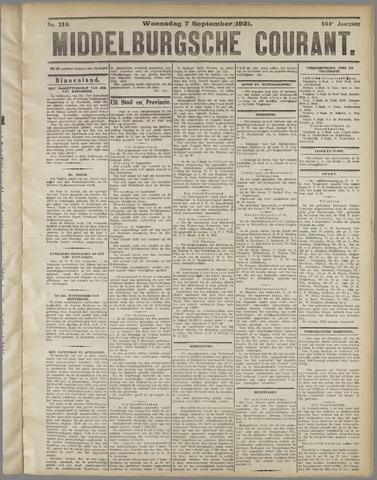 Middelburgsche Courant 1921-09-07