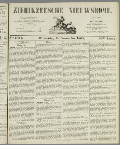 Zierikzeesche Nieuwsbode 1863-11-18