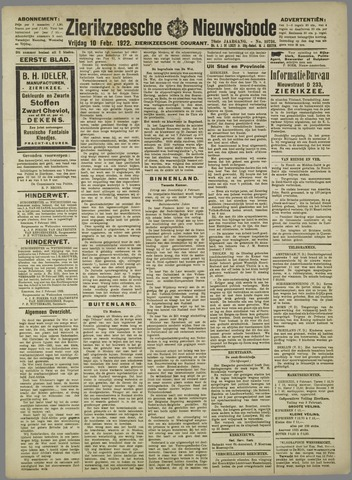 Zierikzeesche Nieuwsbode 1922-02-10