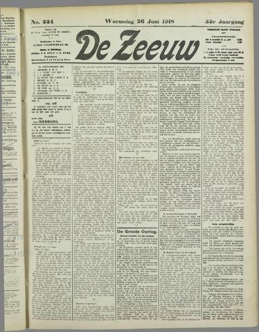 De Zeeuw. Christelijk-historisch nieuwsblad voor Zeeland 1918-06-26