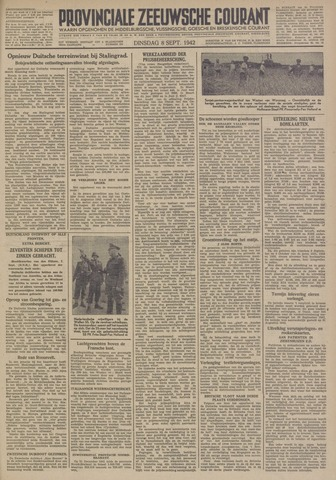 Provinciale Zeeuwse Courant 1942-09-08