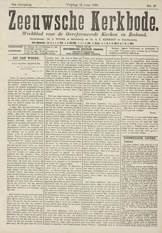 Zeeuwsche kerkbode, weekblad gewijd aan de belangen der gereformeerde kerken/ Zeeuwsch kerkblad 1920-06-18
