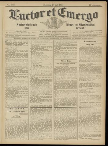 Luctor et Emergo. Antirevolutionair nieuws- en advertentieblad voor Zeeland / Zeeuwsch-Vlaanderen. Orgaan ter verspreiding van de christelijke beginselen in Zeeuwsch-Vlaanderen 1915-07-24