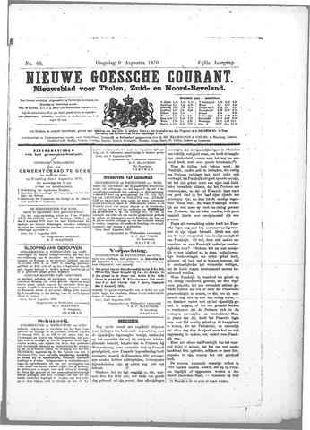 Nieuwe Goessche Courant 1870-08-09