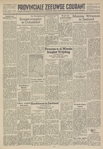Provinciale Zeeuwse Courant 1948-04-14